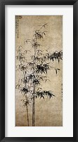 Framed Wang Fu-Ink Bamboo