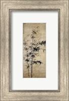 Framed Wang Fu-Ink Bamboo