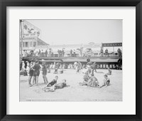 Framed Boardwalk from the beach, Atlantic City, NJ