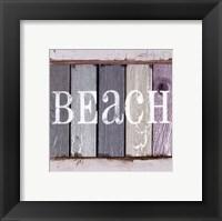 Beach Signs IV Framed Print