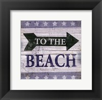 Framed Beach Signs VII