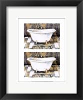 2up Shabby Chic bath III Framed Print