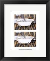 2up Shabby chic bath IV Framed Print