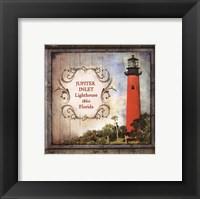 Framed Florida Lighthouse V