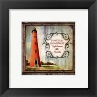 Framed Florida Lighthouse VIII