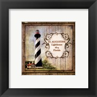 Framed Florida Lighthouse IX