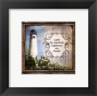 Framed Florida Lighthouse X