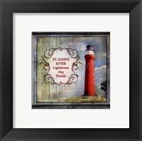 Framed Florida Lighthouse XI