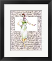 50's Fashion XII Framed Print