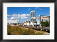 Framed Boardwalk Stores, Atlantic City, New Jersey, USA