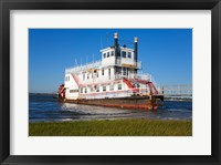 Framed Paddle Steamer on Lakes Bay, Atlantic City, New Jersey, USA