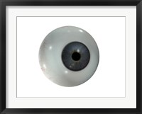 Close-up of the human eyeball frontal view Framed Print