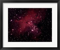 Gaseous Nebula in Serpens Framed Print