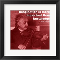 Framed Einstein Imagination Quote