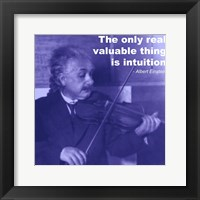 Einstein Intuition Quote Framed Print