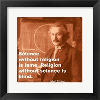 Framed Einstein Science Religion Quote