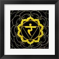 Manipura - Solar Plexus Chakra, Sparkling Jewel Framed Print