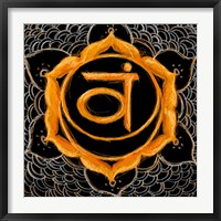 Framed Svadhisthana - Sacral Chakra, Sweetness