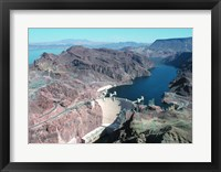 Framed Hoover Dam aerial view