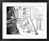 Framed Hoover Dam Diagram