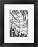 Framed Photograph Looking Up at Wires of the Boulder Dam Power Units, 1941