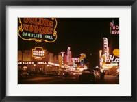 Framed Fremont Street 1952