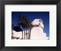 Framed Dramatic Sphynx at the Luxor Hotel Casino in Las Vegas Excalibur Hotel Turets, Las Vegas, Nevada