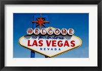 Sign in daytime, Las Vegas, Nevada Framed Print