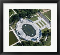 Ariel view of the WW2 Monument Framed Print