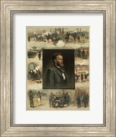 Framed Civil War Grant from West Point to Appomattox