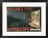 Framed Edisons Vitascope