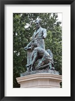 Framed Lincoln statue