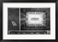Proposed drawing for Independence Square, Washington Memorial II Framed Print
