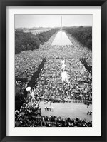 Framed Civil rights march on Washington