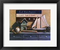 Framed Still Life with Sailboat