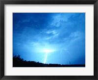 Lightning Over Edson Framed Print