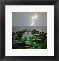 Framed USS Lincoln Lightning