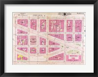 Framed 1909 map of Downtown Washington, D.C.