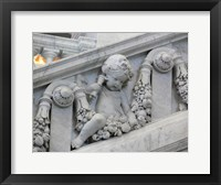 Library of congress architecture detail Framed Print