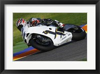 Framed Garry McCoy riding the Ilmor X3