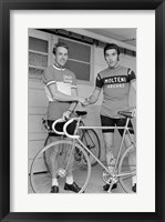 Framed Joop Zoetemelk and Eddy Merckx 1973