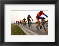Framed Military Cyclists in pace line