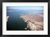 Framed Aerial view, Lake Mead near Las Vegas, Nevada and the Grand Canyon