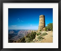 Framed Arizon'a Grand Canyon Watch Tower