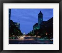 Traffic on a road, Washington, D.C. Photograph Framed Print