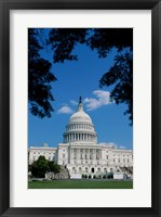 Framed Facade of the Capitol Building, Washington, D.C., USA