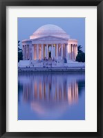 Framed Jefferson Memorial Reflection At Dusk, Washington, D.C., USA