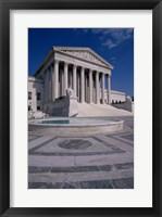Framed Facade of the U.S. Supreme Court, Washington, D.C., USA Vertical