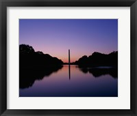 Framed Silhouette of the Washington Monument, Washington, D.C., USA