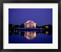 Framed Jefferson Memorial Lit At Dusk, Washington, D.C., USA